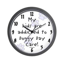 My kids are addicted Wall Clock