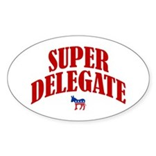 Super Delegate Oval Decal