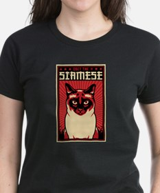 SIAMESE Dictator -Women's Dark Cat T-Shirt