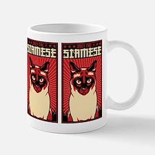 Obey the SIAMESE! Cat Propaganda Mug