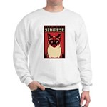 Obey the SIAMESE - Dictator Cat Sweatshirt