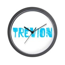 Trevion Faded (Blue) Wall Clock