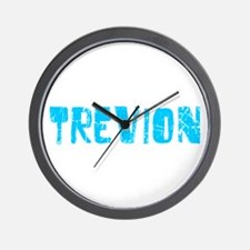 Trevion Faded (Blue) Wall Clock