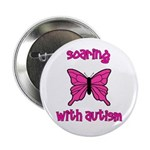 """Soaring with Autism! Butterfl 2.25"""" Button"""