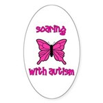 Soaring with Autism! Butterfl Oval Sticker