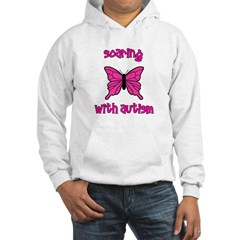 Soaring with Autism! Butterfl Hooded Sweatshirt