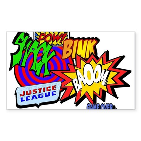 Comic Rectangle Sticker
