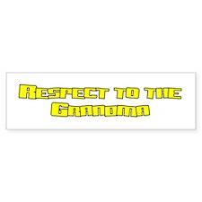 Respect to the Grandma Bumper Bumper Sticker