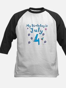 July 4th Birthday Kids Baseball Jersey