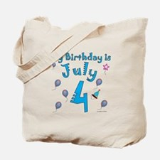July 4th Birthday Tote Bag