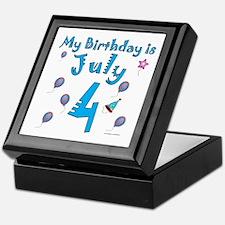 July 4th Birthday Keepsake Box