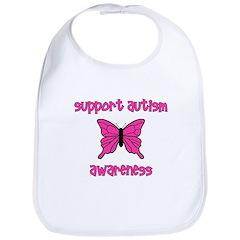 Support Autism Awareness Butt Bib
