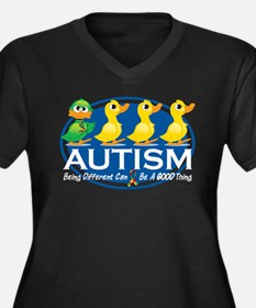 Autism Ugly Duckling Women's Plus Size V-Neck Dark