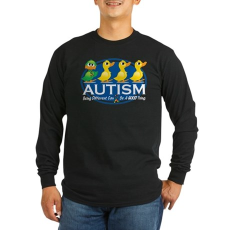 Autism Ugly Duckling Long Sleeve Dark T-Shirt