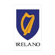 Ireland Coat of Arms Rectangle Decal