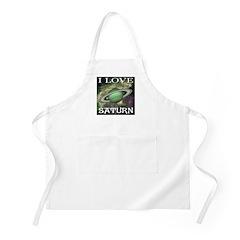I Love Saturn BBQ Apron