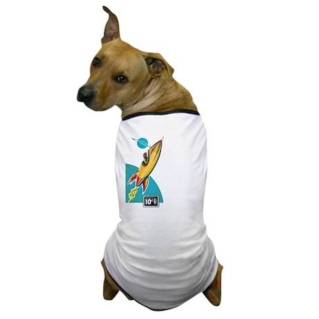 Space Rocket Ride Dog T-Shirt