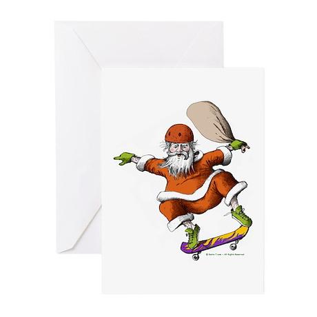 Skateboarding Santa Greeting Cards (Pk of 20)