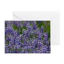 Lupine Thank You Greeting Card