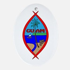 Cute Chamorro Oval Ornament