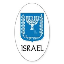 Israel Oval Decal