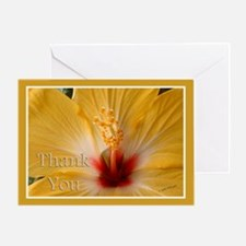 Hibiscis Thank You Greeting Card