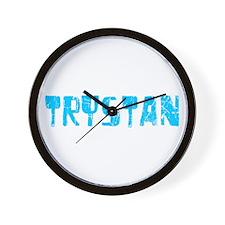 Trystan Faded (Blue) Wall Clock