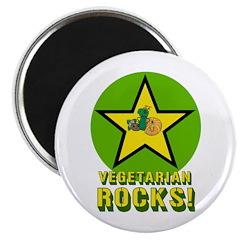 Vegetarian Rocks Magnet