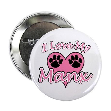 "I Love My Manx Heart 2.25"" Button"