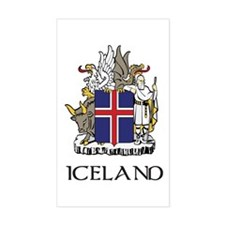 Iceland Coat of Arms Rectangle Decal