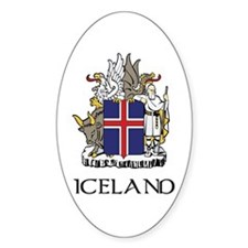 Iceland Coat of Arms Oval Decal