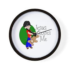 Jesus Loves Me Wall Clock