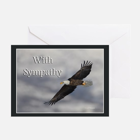 Eagle Sympathy Greeting Cards (Pk of 20)