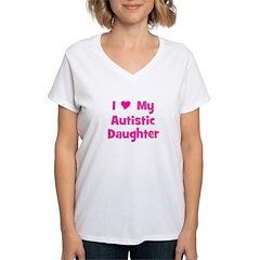 I Love (heart) My Autistic Da Shirt