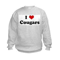 I Love Cougars Sweatshirt