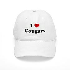 I Love Cougars Baseball Cap