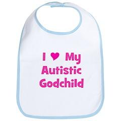 I Love My Autistic Godchild Bib