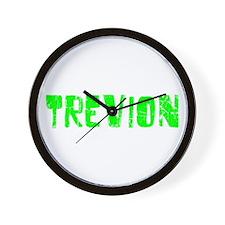 Trevion Faded (Green) Wall Clock
