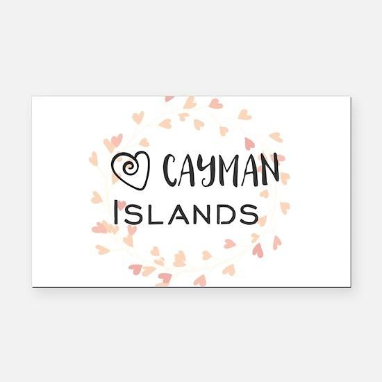 Cayman Islands Rectangle Car Magnet