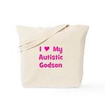 I Love My Autistic Godson Tote Bag