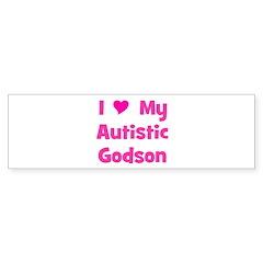I Love My Autistic Godson Bumper Bumper Sticker