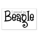 Rescued My Beagle Rectangle Sticker