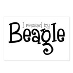 Rescued My Beagle Postcards (Package of 8)