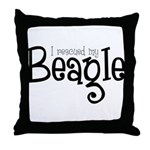 Rescued My Beagle Throw Pillow