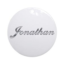 Jonathan First Name Personalized Ornament (Round)