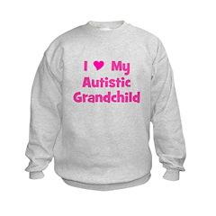I Love My Autistic Grandchild Kids Sweatshirt