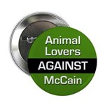 Animal Lovers Against McCain button