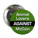 Animal Lovers Against McCain button