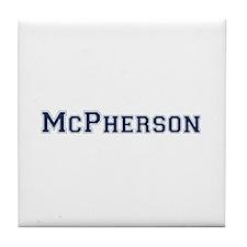 McPherson Last Name Varsity Tile Coaster