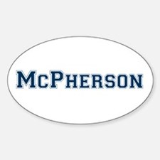 McPherson Last Name Varsity Oval Decal